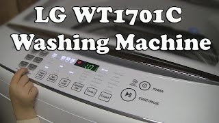 unboxing and review of lg washing machine wt1701cw