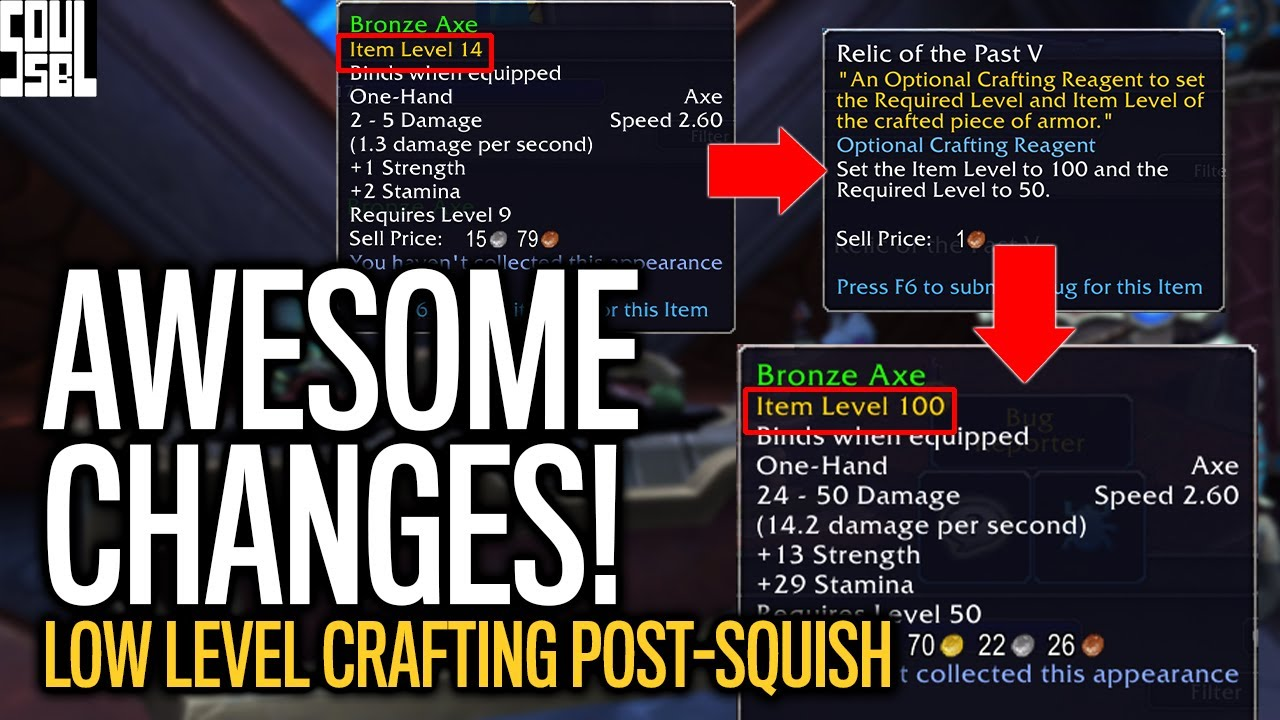 Crazy Gearing Possibilities In Shadowlands Professions Relic Of The Past Explained Youtube