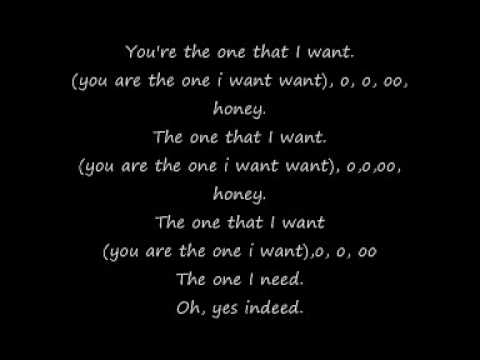 Grease you're the one that i want lyrics