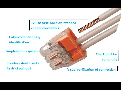Ideal In Sure 174 Push In Wire Connectors Youtube