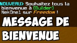 FAIRE UN MESSAGE DE BIENVENUE / D'ACCUEIL AVEC LE PSEUDO - Tuto Minecraft Vanilla Toutes Versions