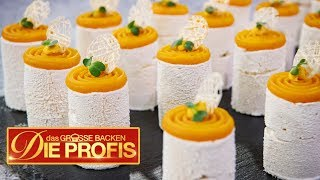 50 Mini-Kuchen: Alles ist aus Mango | Verkostung | (1/2) | Das große Backen – Die Profis | SAT.1