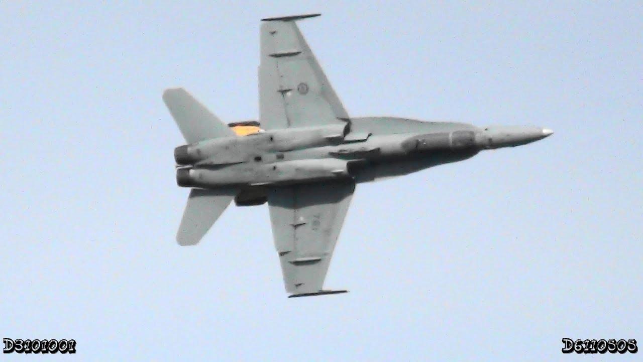 Canadian CF-18 Fighter Jetu0027s False Canopy! (Slow Motion) & Canadian CF-18 Fighter Jetu0027s False Canopy! (Slow Motion) - YouTube