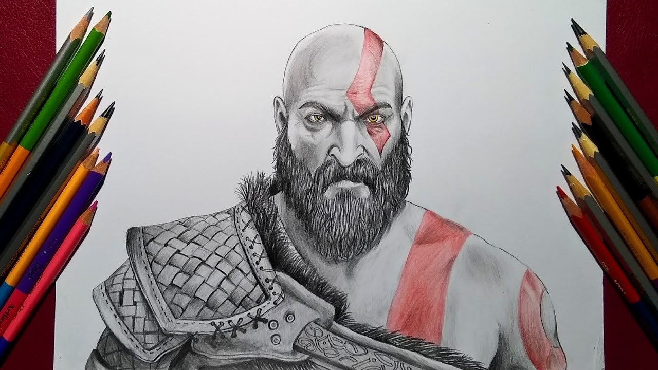 How To Draw Kratos From God Of War 4