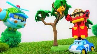 Robocar Poli Toys retten ein Kätzchen 🐱 Robocar Poli auf Deutsch 🐽 🚓 Robocar Poli Video
