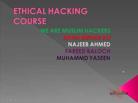 Ethical Hacking course Urdu and Hindi Video Part 1