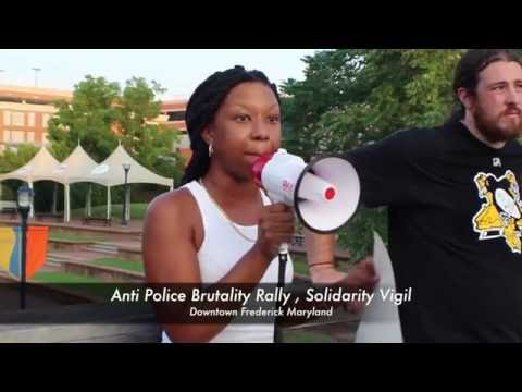 Anti Police Brutality Rally solidarity vigil Downtown Frederick Maryland