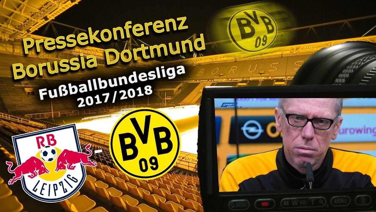 RB Leipzig - Borussia Dortmund: Pk mit Peter Stöger
