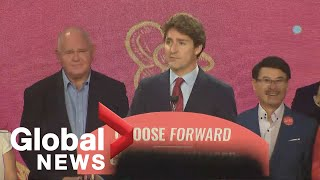 Canada Election: Liberal Leader Justin Trudeau delivers remarks at rally in Markham, Ontario