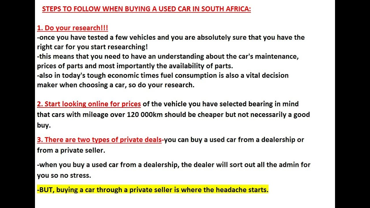 Steps to Get the Best Deal on a Used Car Money Crashers