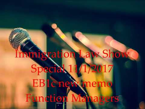 EB1c Matter of G-Inc, Visa Bulletin forecast and other immigration issues analyzed.
