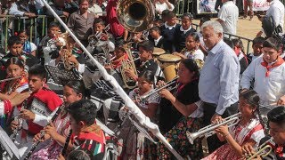 «Canción mixteca» interpretada por banda de Oaxaca