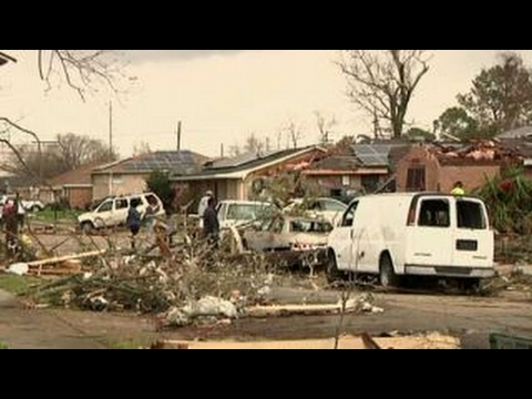 At least three tornadoes touch down in Louisiana