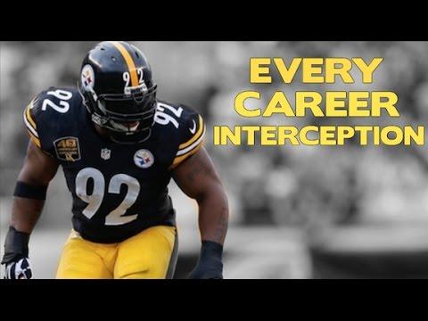James Harrison Every Career Interception ᴴᴰ