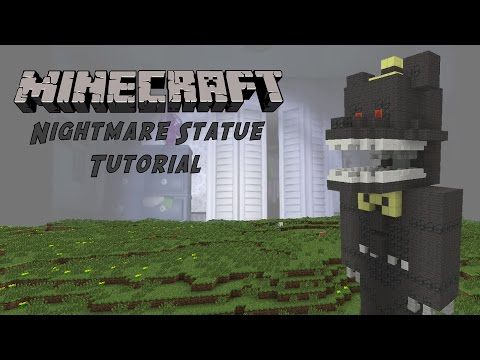 Minecraft Tutorial: Nightmare (Five Nights At Freddy's 4) Statue