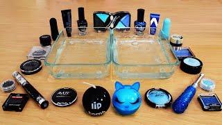 Mixing Makeup Eyeshadow Into Slime ! Black vs Blue Special Series Part 34 Satisfying Slime Video
