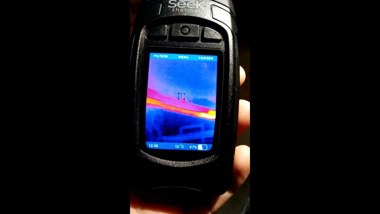 Seek Thermal Camera >> Seek Thermal Reveal XR warmtecamera korte demo - ledscherp ...