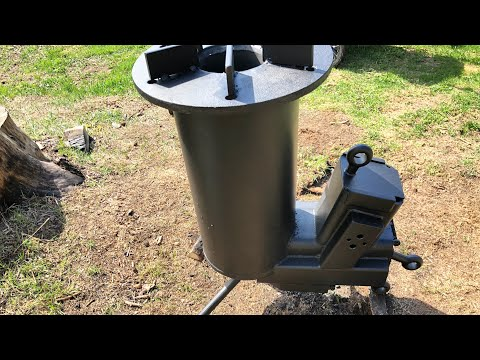 Rocket stove water heater for pool