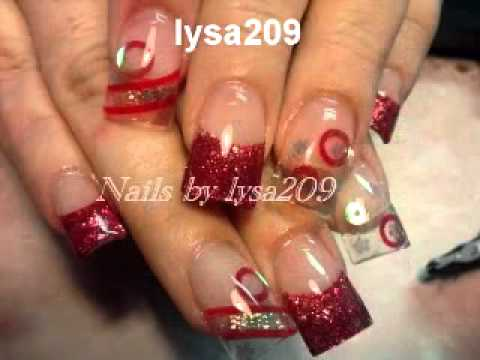 Acrylic Nails Semi Valentines