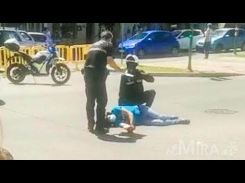 Accidente con herido en la Plaza Madre de Dios en Jerez