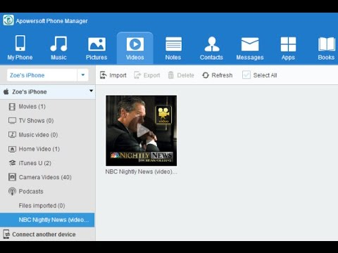 How to transfer videos to mobile phone with Phone Manager