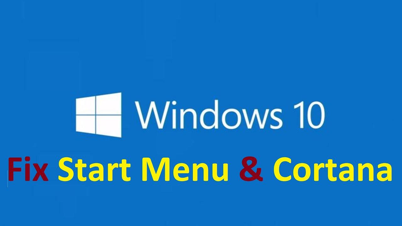 mengatasi critical error start menu and cortana arent working