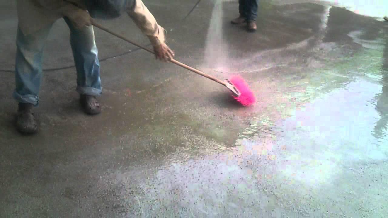 Concreto lavado 1 youtube - Como hacer un piso de hormigon ...