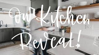 Modern Green Kitchen Before And After | Our kitchen renovation is DONE!