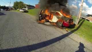 Marion VA Fire Department Car Fire-GoPro