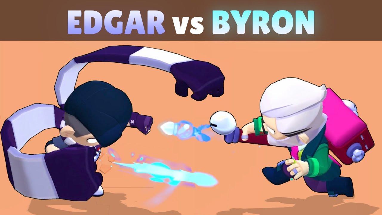 Download EDGAR vs BYRON   23 Tests   Best NEW Brawler in Brawl Stars!