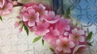 Como pintar cerejeiras ( Sakura)