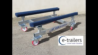 Gambar cover Extreme Jet Ski, Rib, Dinghy, Boat Showroom / Garage Dolly Trailer - for where space is a premium