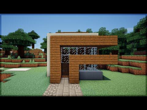 Minecraft tutoriais como construir uma casa de madeira for Casa moderna minecraft tutorial