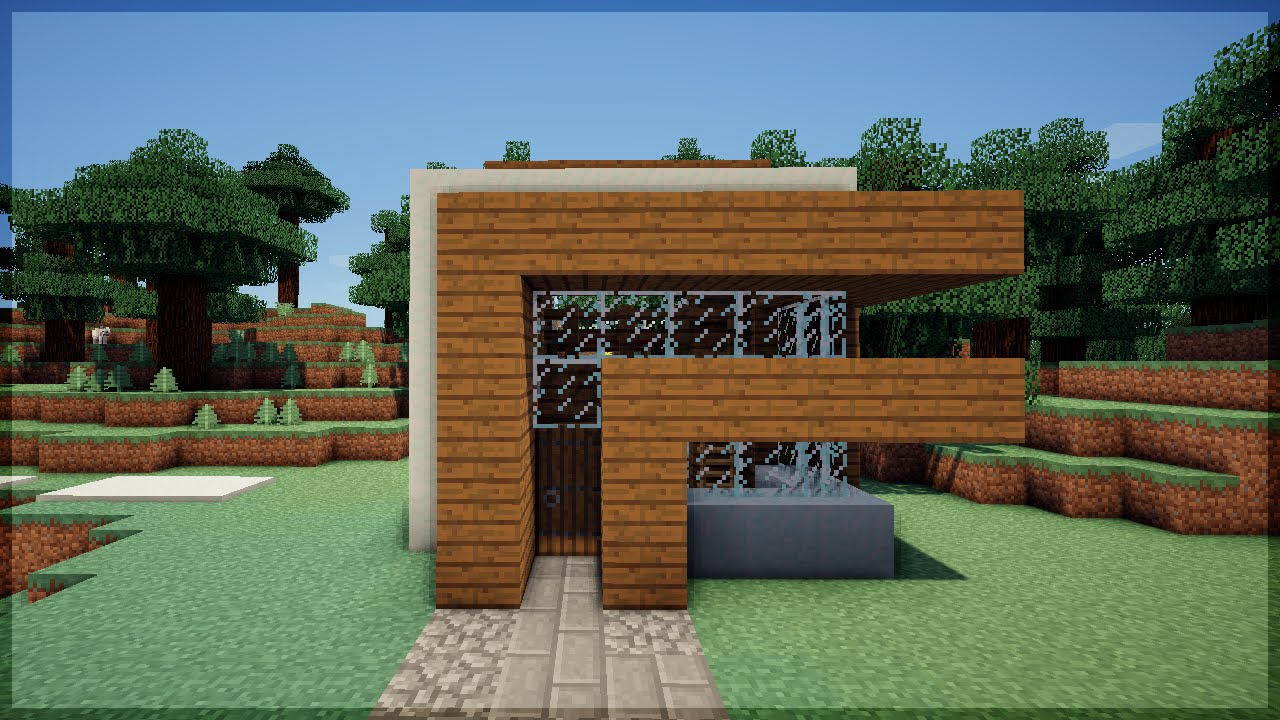 Minecraft construa uma casa moderna em 5 minutos 2 no for Casas modernas no minecraft