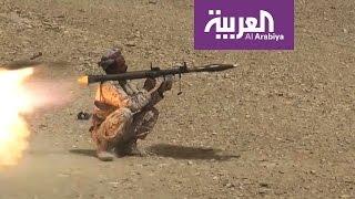 كاميرا العربية ترصد هروب حوثيين أثناء غارة للتحالف