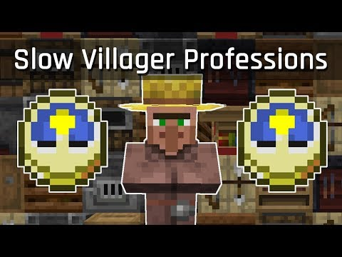 Slow Villager Profession Switching Tutorial | Minecraft 1.14.4 (Java Edition)
