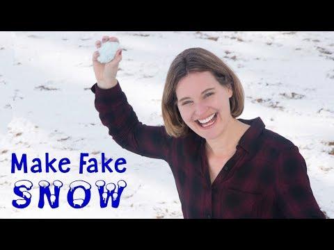 Make Fake Snow   Fun Snowman Winter Craft