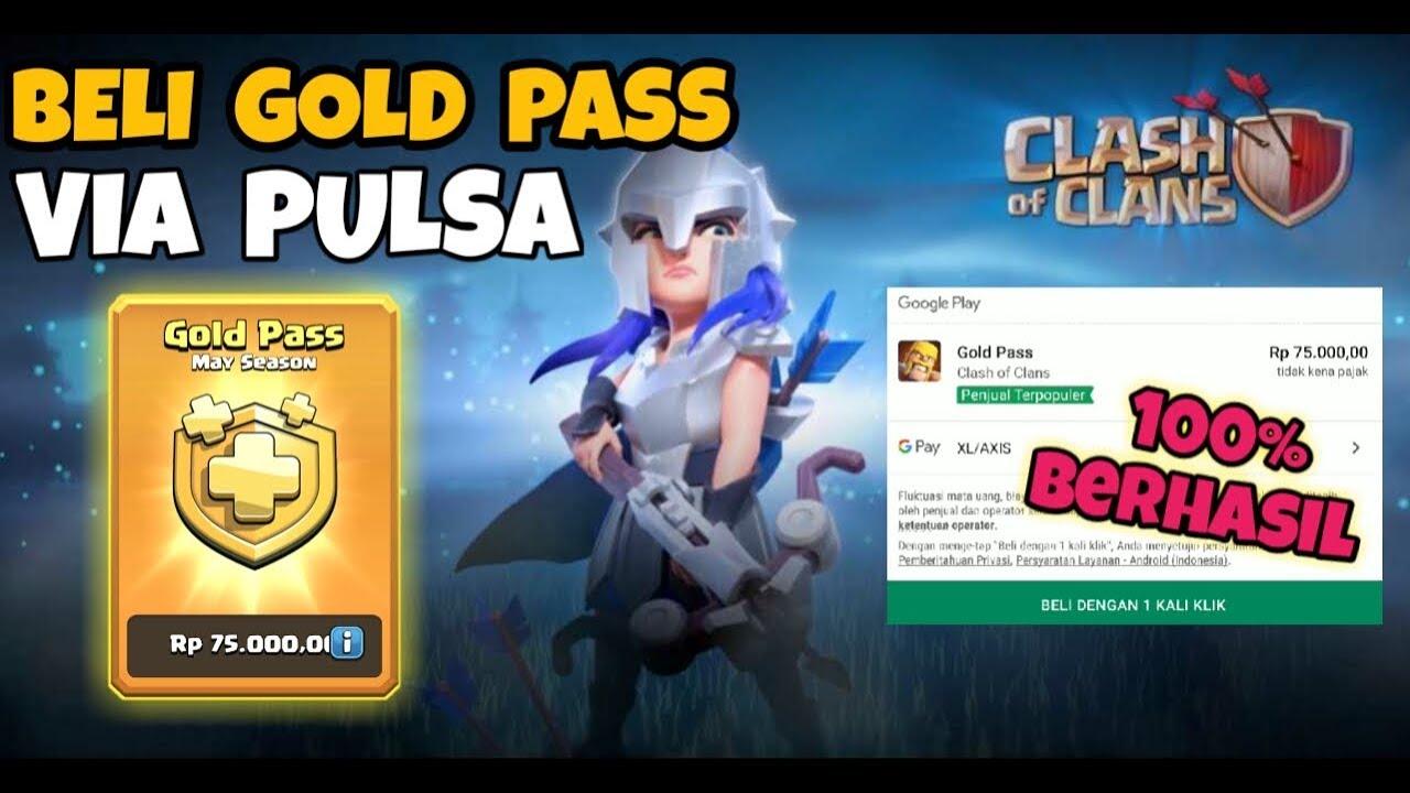 Beli Gold Pass Via Pulsa Clash Of Clans