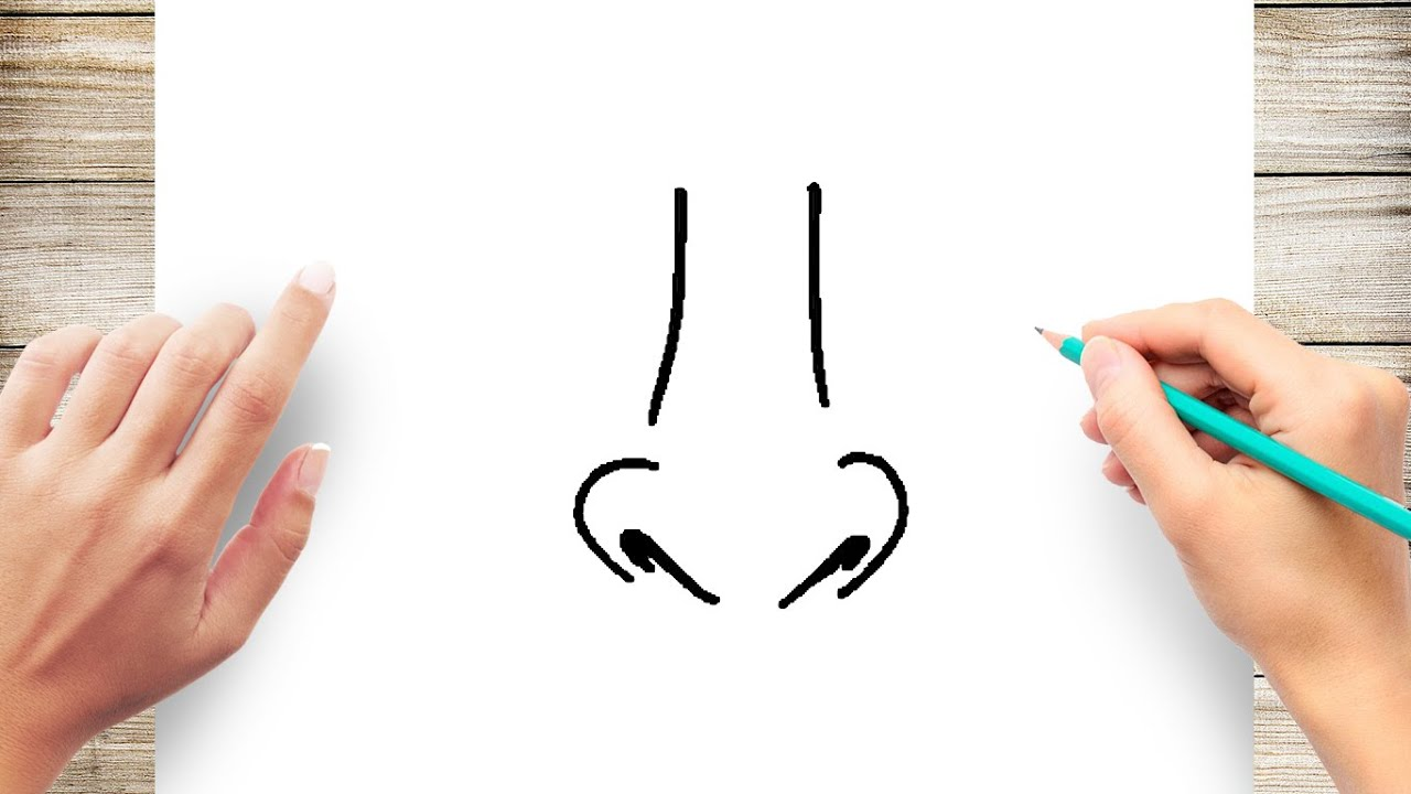 How To Draw Realistic Noses For Kids Step By Step Youtube