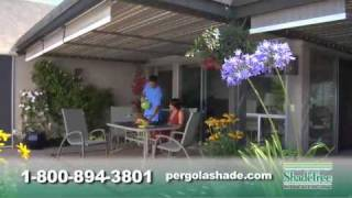 Shadetree Canopy Retractable Awning: Free Pergola Dvd