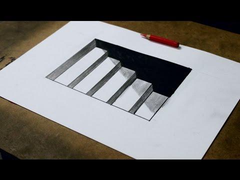 Como Desenhar Uma Escada 3d Ilusão De ótica Atevaldo Novais