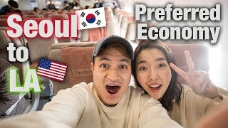 FLYING PREFERRED ECONOMY FROM SEOUL, KOREA TO LOS ANGELES, USA 🇺🇸 | Asiana Airlines