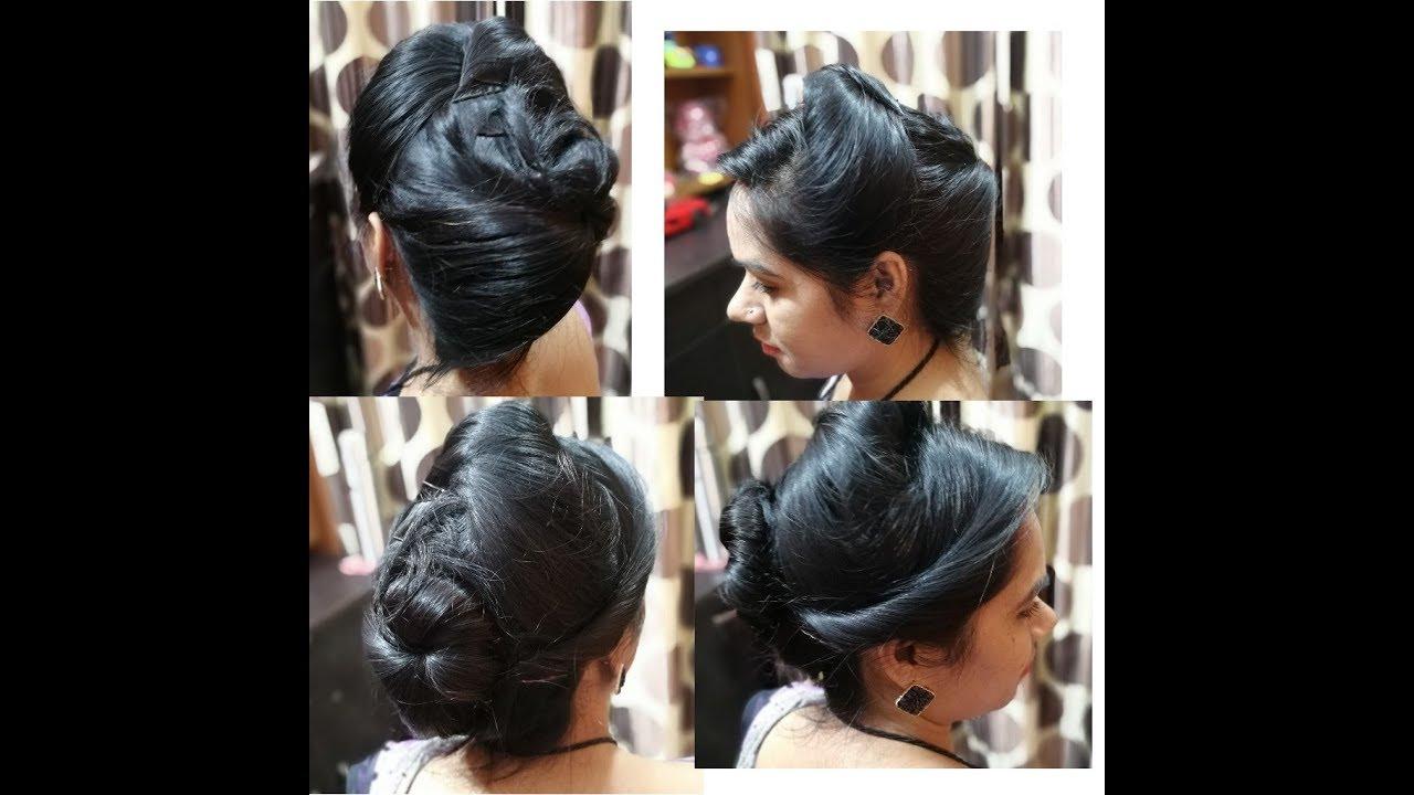 air hostess girls hair style | easy hair style | do it at home