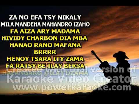 karaoke tht za tsy hisotro tsony