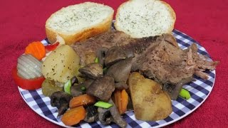 Crock Pot Recipe~easy Pot Roast Made With A Beef Bottom Round Or Rump Roast