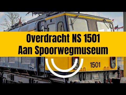'Diana' definitief naar Spoorwegmuseum - Overdracht 1501