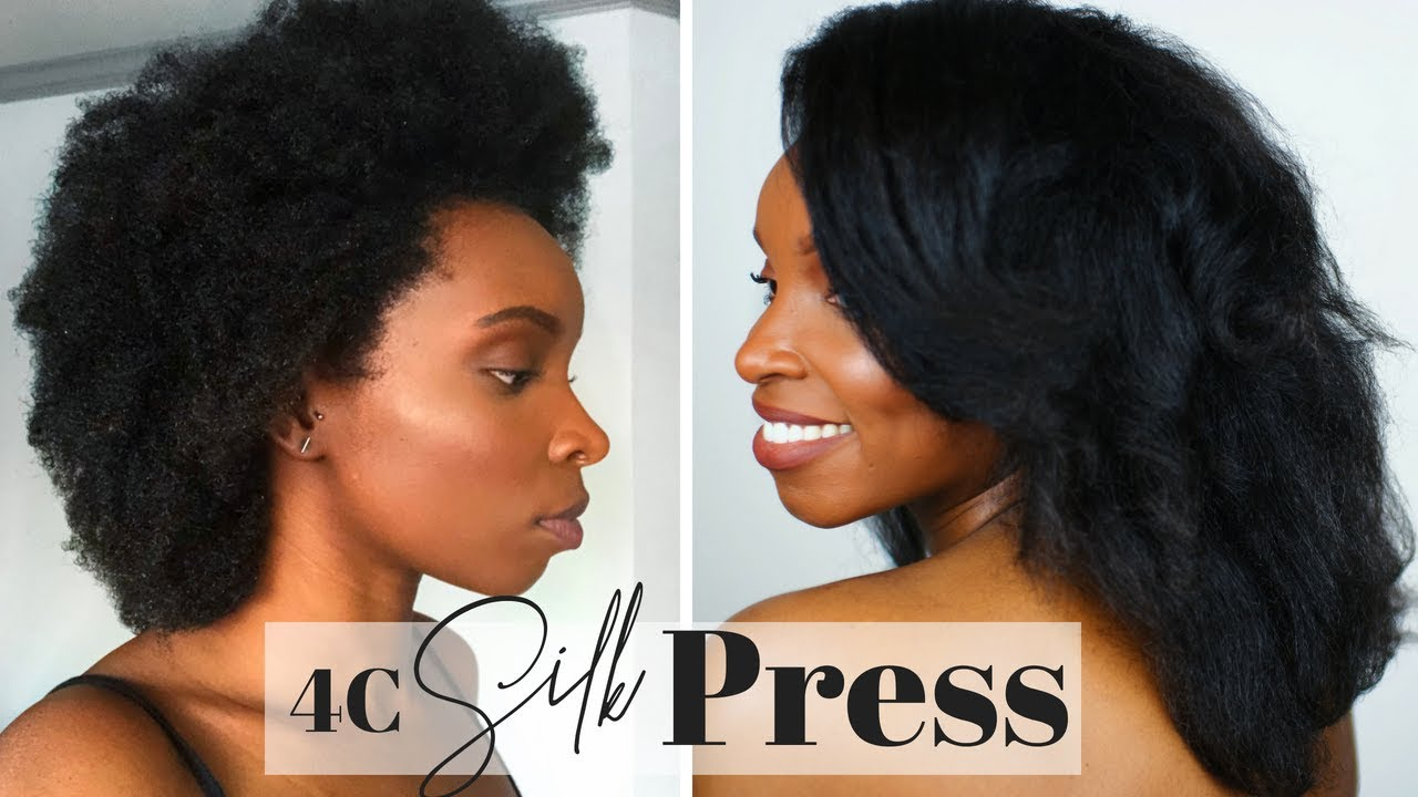 silk out hair style how to silk press on 4c hair using a comb 6012 | maxresdefault