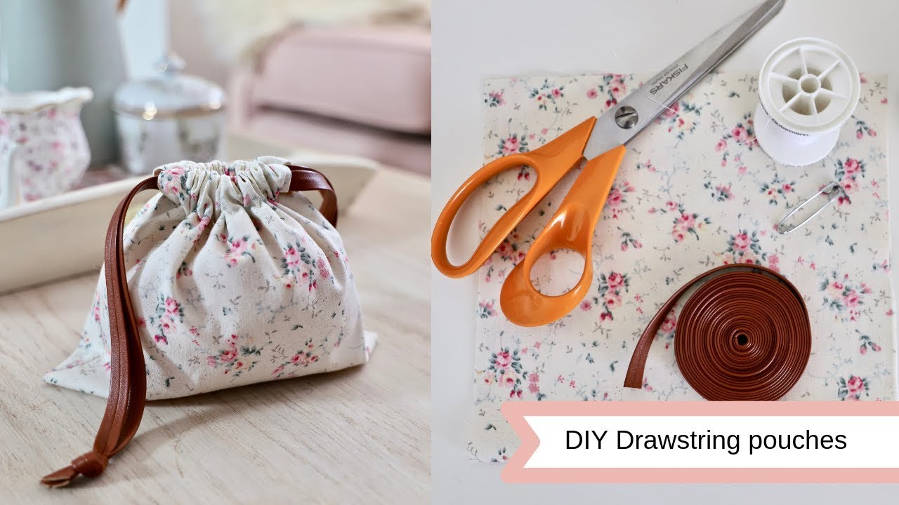 diy drawstring pouches easy