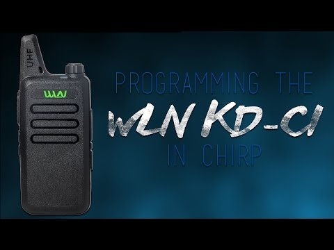How To Programme A WLN KD-C1 In Chirp