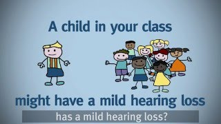 Tips for teaching deaf children with a mild hearing loss